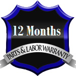 12 months parts and labor warranty